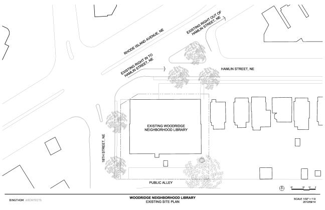 Existing Woodridge Library site